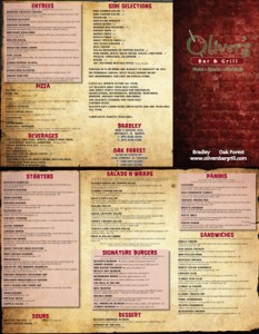 Oliver's Carryout Menu
